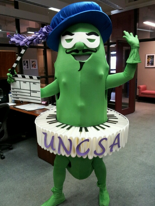 UNSCA Fighting Pickle Mascot - Dina Perez Designs